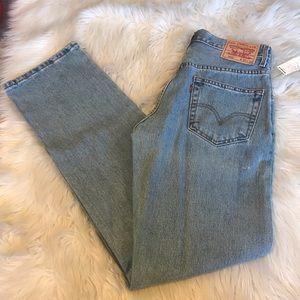 505 men's Levis classic denim jeans